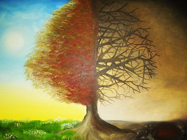 Céu ou Inferno (pintura por Hannah Greer)