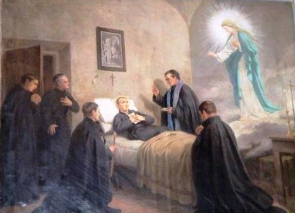 """""""Maria, mãe da graça, mãe da misericórdia, do inimigo nos protegei, e na hora da morte nos recebei"""".  (São Gabriel de Nossa Senhora das Dores)"""