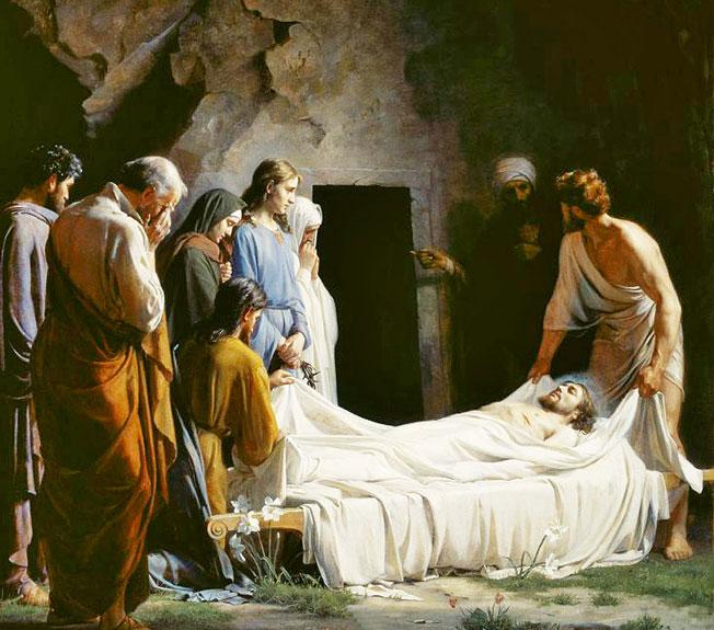 Sepultamento de Jesus, sétima dor de Maria