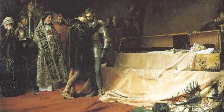 José Moreno Carbonero, Conversão do Duque de Gandia (S. Francisco de Borja), 1884, Museo del Prado, Madrid