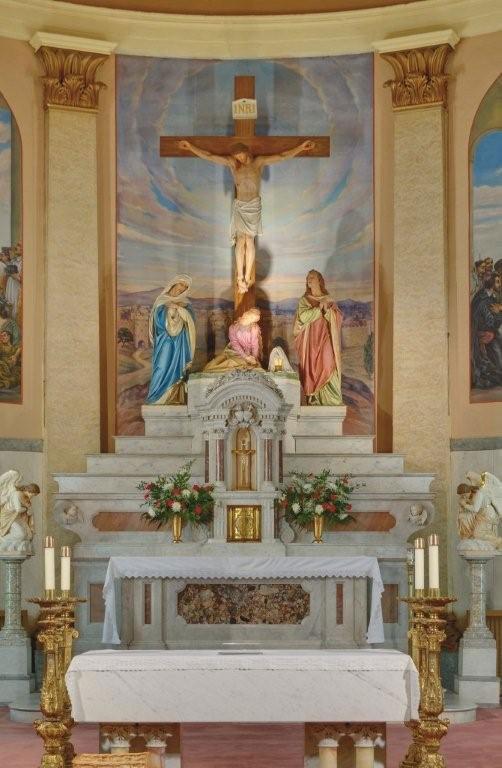 Jesus Eucarístico no Sacrário (Altar da Igreja São Vicente de Paulo)