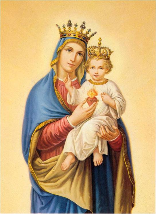 Nossa Senhora e o Sagrado Coração de Jesus