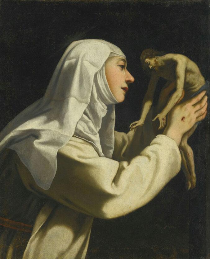 Santa Catarina de Sena e Jesus Cristo