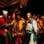 Jesus recebe uma bofetada de um dos oficiais do Sumo Sacerdote