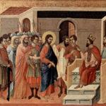 Jesus é conduzido diante de Herodes, que o despreza e trata como um insensato