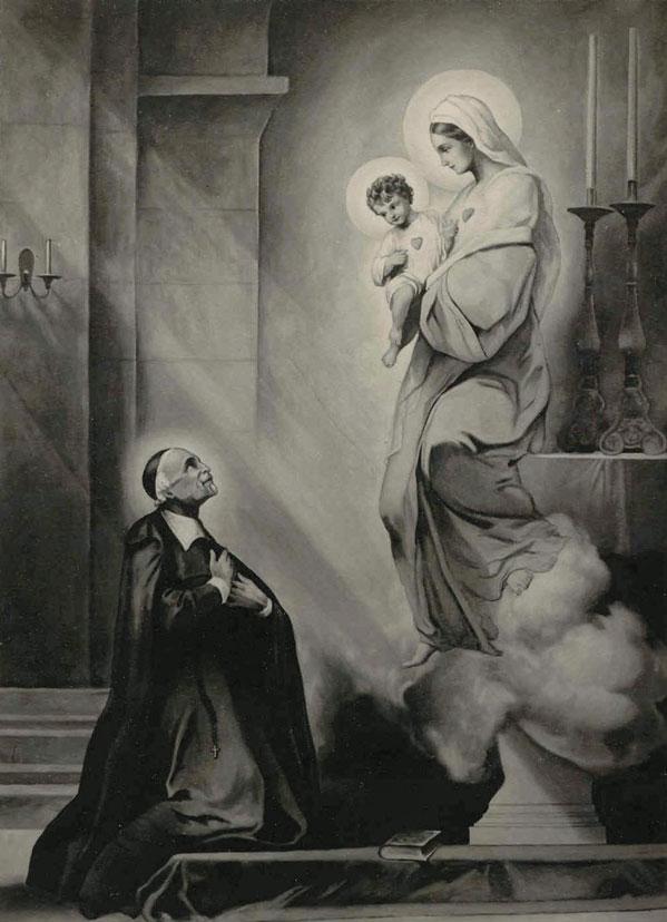 São João Eudes e a Virgem Maria