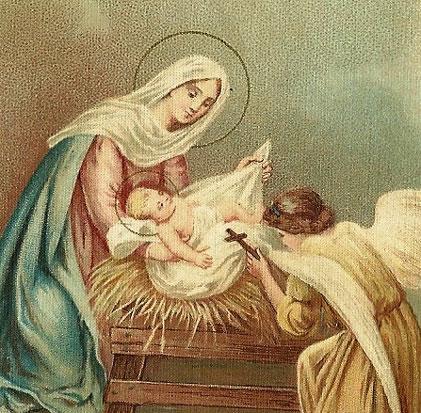 Menino Jesus, sobre as palhas, ensina-nos a Mortificação