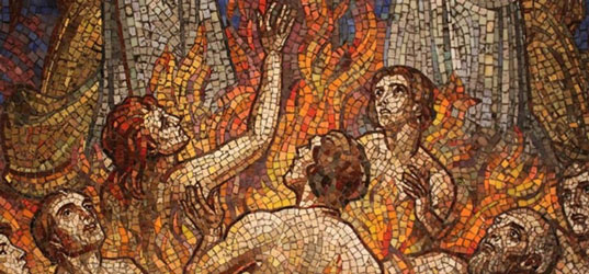 Almas do Purgatório, mosaico