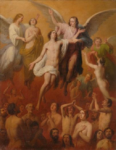 Anjo do Senhor libertando uma alma do Purgatório