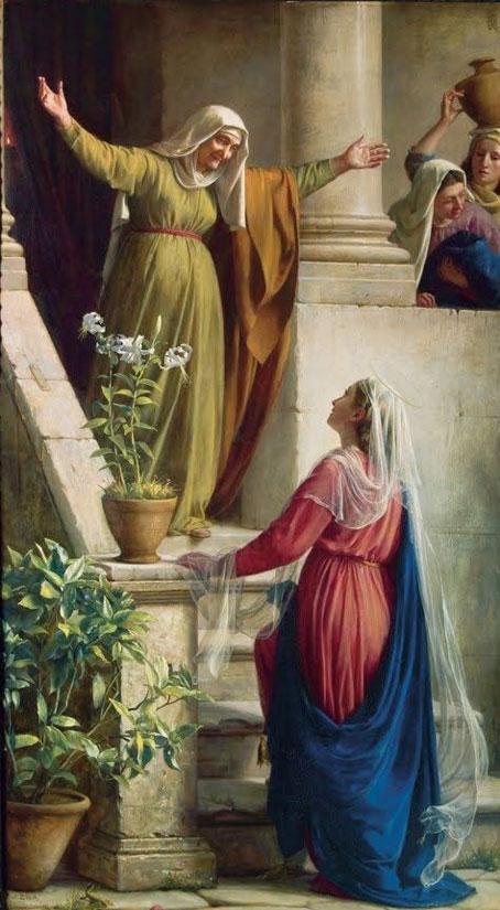 Maria visita sua prima Isabel