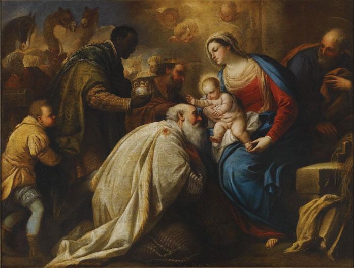 Adoração dos Reis Magos ao Menino Jesus