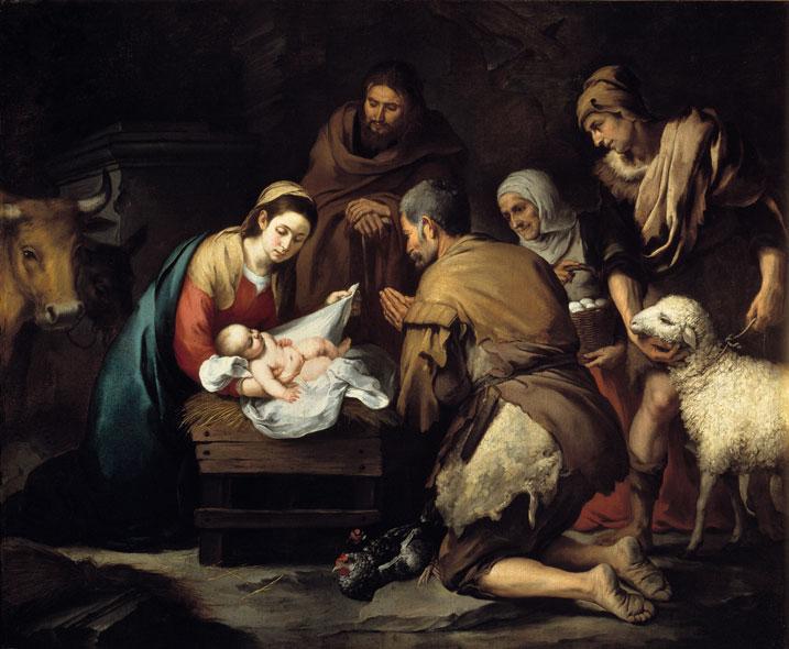 Pastores adorando Menino Jesus
