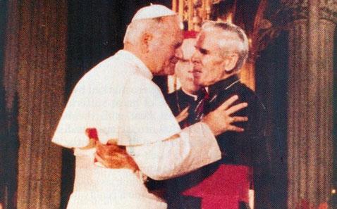 Encontro de Dom Fulton Sheen e São João Paulo II