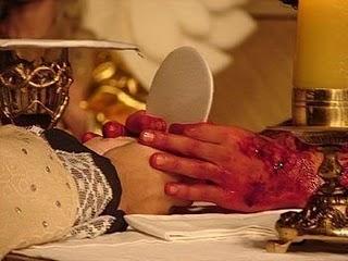 Suposta rpresentação da Eucaristia que circula pela internet