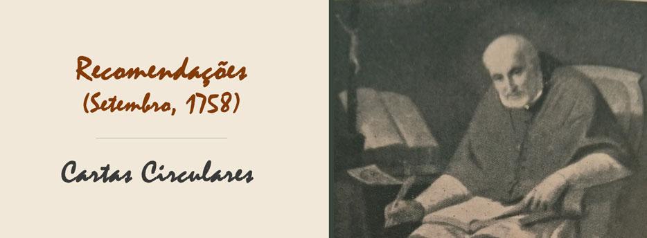 8ª Carta Circular de Santo Afonso: Recomendações (Setembro, 1758)
