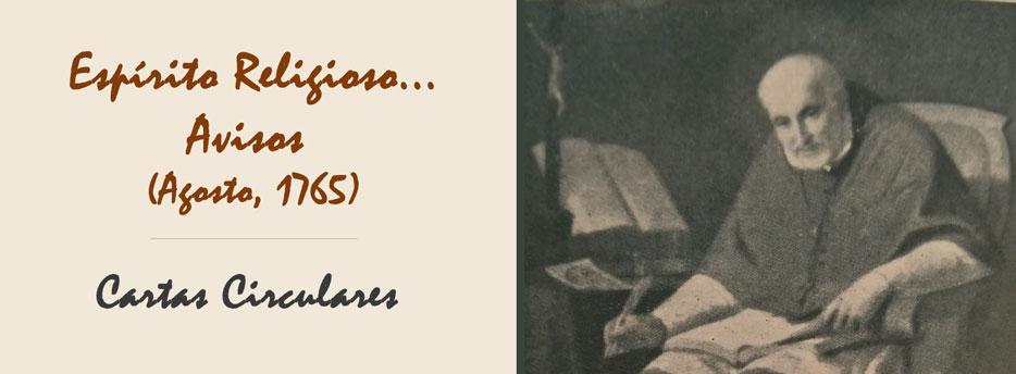 9ª Carta Circular de Santo Afonso: Espírito Religioso... Avisos (Agosto, 1765)