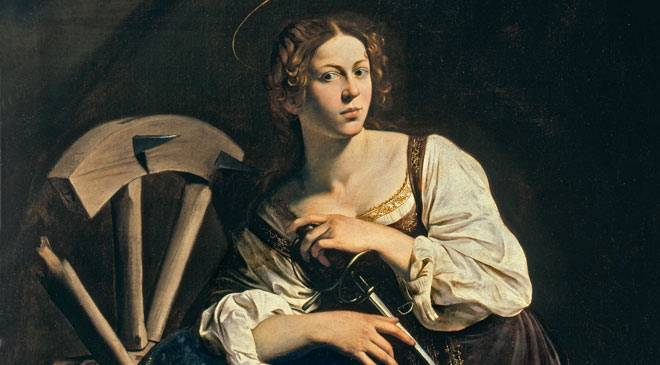 Santa Catarina de Alexandria, pintura de Caravaggio (1597)