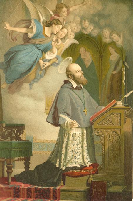 São Francisco de Sales em oração