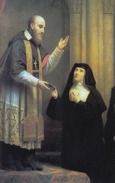 São Francisco de Sales apresentando a Regra para Santa Joana Francisca de Chantal