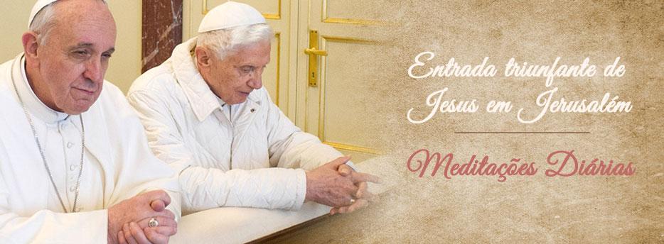 Meditação para o Domingo de Ramos. Entrada triunfante de Jesus em Jerusalém