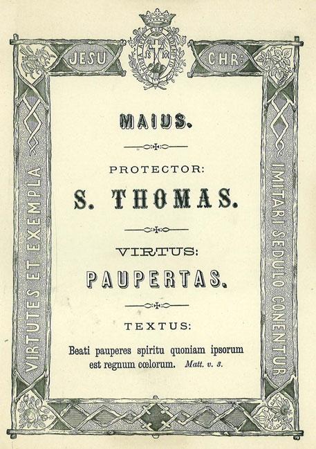 Mês de Maio: A Virtude da Pobreza de Espírito ou do Desapego. Apóstolo Patrono: São Tomé