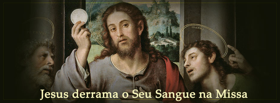 Jesus derrama o Seu Sangue na Missa