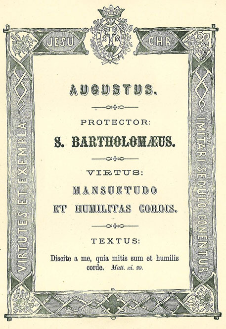 Mês de Agosto: As Virtudes da Humildade e da Mansidão. Apóstolo Patrono: São Bartolomeu