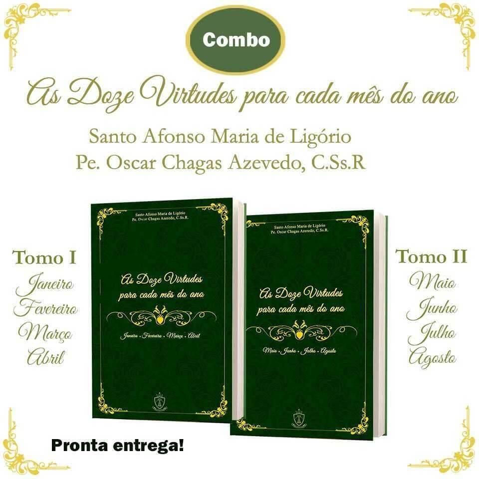 Compre o livro 12 Virtudes do Apostolado Rumo à Santidade, volumes 1 e 2!